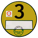 Yellow Environmental Sticker