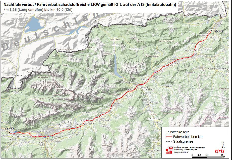Umweltzone München Karte.Tirol Umweltzone Niedrig Emissionszone österreich